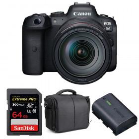 Canon EOS R6 + RF 24-105mm f/4L IS USM + SanDisk 64GB Extreme PRO UHS-II SDXC 300 MB/s + LP-E6NH + Sac