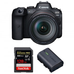 Canon EOS R6 + RF 24-105mm f/4L IS USM + SanDisk 128GB Extreme PRO UHS-II SDXC 300 MB/s + Canon LP-E6NH | 2 años de garantía
