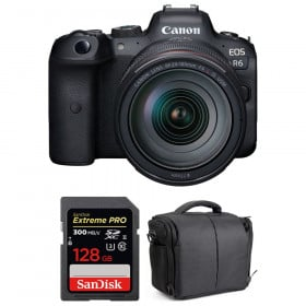 Canon EOS R6 + RF 24-105mm f/4L IS USM + SanDisk 128GB Extreme PRO UHS-II SDXC 300 MB/s + Sac