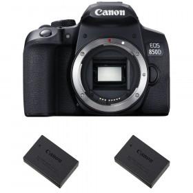 Canon EOS 850D Nu + 2 Canon LP-E17 | Garantie 2 ans