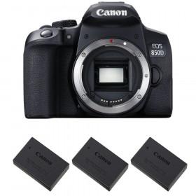 Canon EOS 850D Nu + 3 Canon LP-E17 | Garantie 2 ans