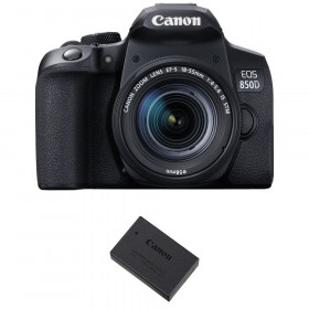 Canon EOS 850D + EF-S 18-55mm f/4-5.6 IS STM + 1 Canon LP-E17 | Garantie 2 ans