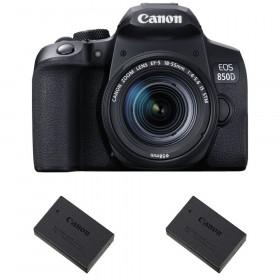 Canon EOS 850D + EF-S 18-55mm f/4-5.6 IS STM + 2 Canon LP-E17 | Garantie 2 ans