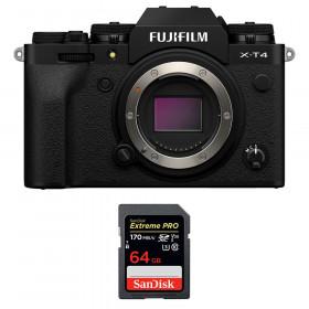 Fujifilm X-T4 Cuerpo Negro + SanDisk 64GB UHS-I SDXC 170 MB/s