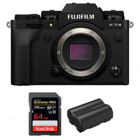 Fujifilm X-T4 Nu Noir + SanDisk 64GB UHS-I SDXC 170 MB/s + Fujifilm NP-W235