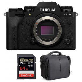 Fujifilm X-T4 Cuerpo Negro + SanDisk 64GB UHS-I SDXC 170 MB/s + Bolsa