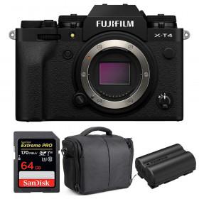 Fujifilm X-T4 Cuerpo Negro + SanDisk 64GB UHS-I SDXC 170 MB/s + Fujifilm NP-W235 + Bolsa
