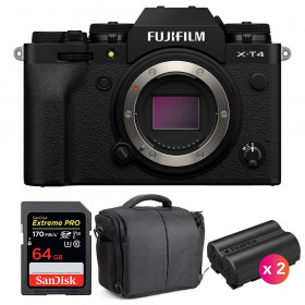 Fujifilm X-T4 Body Black + SanDisk 64GB UHS-I SDXC 170 MB/s + 2 Fujifilm NP-W235 + Bag | 2 Years Warranty