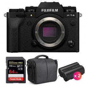 Fujifilm X-T4 Nu Noir + SanDisk 64GB UHS-I SDXC 170 MB/s + 2 Fujifilm NP-W235 + Sac