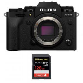 Fujifilm X-T4 Body Black + SanDisk 128GB UHS-I SDXC 170 MB/s | 2 Years Warranty