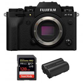 Fujifilm X-T4 Body Black + SanDisk 128GB UHS-I SDXC 170 MB/s + Fujifilm NP-W235 | 2 Years Warranty