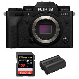 Fujifilm X-T4 Cuerpo Negro + SanDisk 128GB UHS-I SDXC 170 MB/s + Fujifilm NP-W235