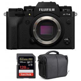 Fujifilm X-T4 Body Black + SanDisk 128GB UHS-I SDXC 170 MB/s + Bag | 2 Years Warranty