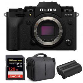 Fujifilm X-T4 Cuerpo Negro + SanDisk 128GB UHS-I SDXC 170 MB/s + Fujifilm NP-W235 + Bolsa