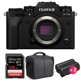 Fujifilm X-T4 Cuerpo Negro + SanDisk 128GB UHS-I SDXC 170 MB/s + 2 Fujifilm NP-W235 + Bolsa