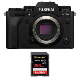 Fujifilm X-T4 Cuerpo Negro + SanDisk 256GB UHS-I SDXC 170 MB/s