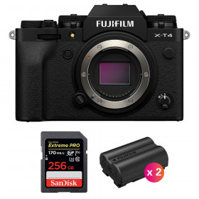 Fujifilm X-T4 Cuerpo Negro + SanDisk 256GB UHS-I SDXC 170 MB/s + 2 Fujifilm NP-W235 | 2 años de garantía