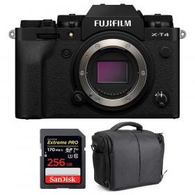 Fujifilm X-T4 Body Black + SanDisk 256GB UHS-I SDXC 170 MB/s + Bag | 2 Years Warranty