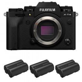 Fujifilm X-T4 Cuerpo Negro + 3 Fujifilm NP-W235 | 2 años de garantía
