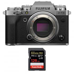 Fujifilm X-T4 Cuerpo Silver + SanDisk 128GB UHS-I SDXC 170 MB/s