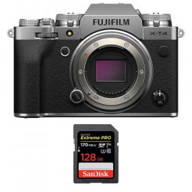 Fujifilm X-T4 Nu Silver + SanDisk 128GB UHS-I SDXC 170 MB/s