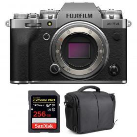 Fujifilm X-T4 Cuerpo Silver + SanDisk 256GB UHS-I SDXC 170 MB/s + Bolsa