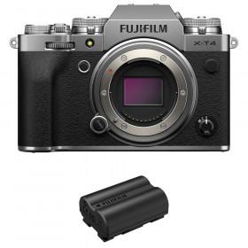 Fujifilm X-T4 Body Silver + 1 Fujifilm NP-W235 | 2 Years Warranty