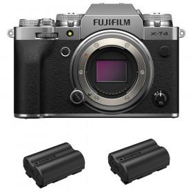 Fujifilm X-T4 Body Silver + 2 Fujifilm NP-W235 | 2 Years Warranty