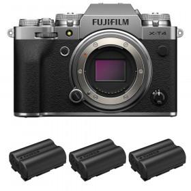 Fujifilm X-T4 Cuerpo Silver + 3 Fujifilm NP-W235 | 2 años de garantía