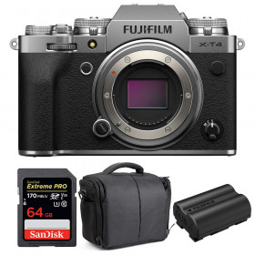 Fujifilm X-T4 Body Silver + SanDisk 64GB UHS-I SDXC 170 MB/s + Fujifilm NP-W235 + Bag | 2 Years Warranty