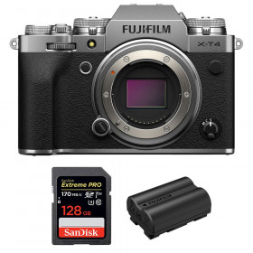 Fujifilm X-T4 Nu Silver + SanDisk 128GB UHS-I SDXC 170 MB/s + Fujifilm NP-W235