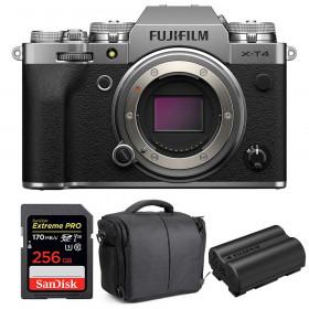 Fujifilm X-T4 Cuerpo Silver + SanDisk 256GB UHS-I SDXC 170 MB/s + Fujifilm NP-W235 + Bolsa | 2 años de garantía