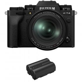 Fujifilm X-T4 Noir + XF 16-80mm f/4 R OIS WR + 1 Fujifilm NP-W235