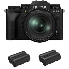 Fujifilm X-T4 Noir + XF 16-80mm f/4 R OIS WR + 2 Fujifilm NP-W235