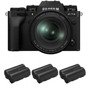 Fujifilm X-T4 Noir + XF 16-80mm f/4 R OIS WR + 3 Fujifilm NP-W235