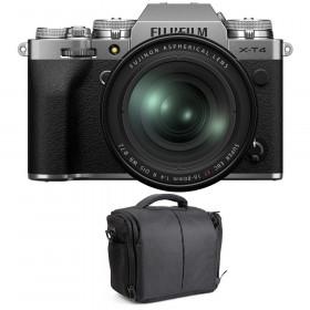 Fujifilm X-T4 Silver + XF 16-80mm f/4 R OIS WR + Sac