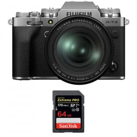 Fujifilm X-T4 Silver + XF 16-80mm f/4 R OIS WR + SanDisk 64GB UHS-I SDXC 170 MB/s