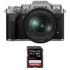 Fujifilm X-T4 Silver + XF 16-80mm f/4 R OIS WR + SanDisk 64GB UHS-I SDXC 170 MB/s | 2 Years Warranty