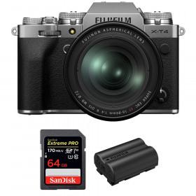 Fujifilm X-T4 Silver + XF 16-80mm f/4 R OIS WR + SanDisk 64GB UHS-I SDXC 170 MB/s + Fujifilm NP-W235