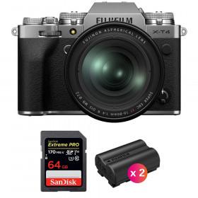 Fujifilm X-T4 Silver + XF 16-80mm f/4 R OIS WR + SanDisk 64GB UHS-I SDXC 170 MB/s + 2 Fujifilm NP-W235