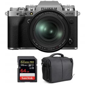 Fujifilm X-T4 Silver + XF 16-80mm f/4 R OIS WR + SanDisk 64GB UHS-I SDXC 170 MB/s + Sac