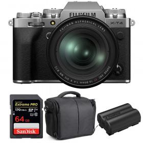 Fujifilm X-T4 Silver + XF 16-80mm f/4 R OIS WR + SanDisk 64GB UHS-I SDXC 170 MB/s + NP-W235 + Bag | 2 Years Warranty