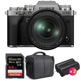 Fujifilm X-T4 Silver + XF 16-80mm f/4 R OIS WR + SanDisk 64GB UHS-I SDXC 170 MB/s + 2 NP-W235 + Bag | 2 Years Warranty