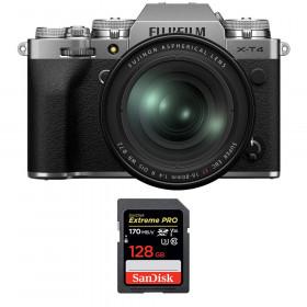 Fujifilm X-T4 Silver + XF 16-80mm f/4 R OIS WR + SanDisk 128GB UHS-I SDXC 170 MB/s | 2 Years Warranty