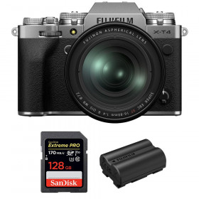 Fujifilm X-T4 Silver + XF 16-80mm f/4 R OIS WR + SanDisk 128GB UHS-I SDXC 170 MB/s + Fujifilm NP-W235 | 2 Years Warranty