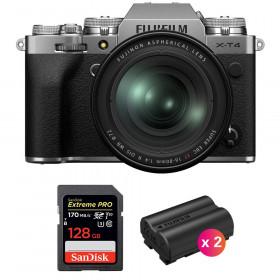 Fujifilm X-T4 Silver + XF 16-80mm f/4 R OIS WR + SanDisk 128GB UHS-I SDXC 170 MB/s + 2 Fujifilm NP-W235