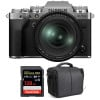 Fujifilm X-T4 Silver + XF 16-80mm f/4 R OIS WR + SanDisk 128GB UHS-I SDXC 170 MB/s + Bag | 2 Years Warranty