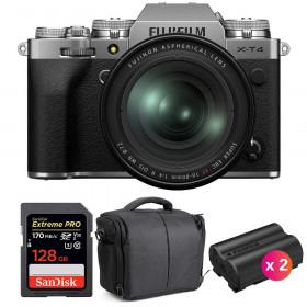 Fujifilm X-T4 Silver + XF 16-80mm f/4 R OIS WR + SanDisk 128GB UHS-I SDXC 170 MB/s + 2 NP-W235 + Bolsa