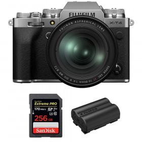 Fujifilm X-T4 Silver + XF 16-80mm f/4 R OIS WR + SanDisk 256GB UHS-I SDXC 170 MB/s + Fujifilm NP-W235 | 2 Years Warranty