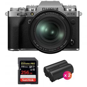 Fujifilm X-T4 Silver + XF 16-80mm f/4 R OIS WR + SanDisk 256GB UHS-I SDXC 170 MB/s + 2 Fujifilm NP-W235